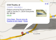 google maps coa trucks mini
